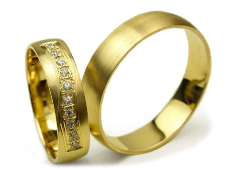 Złote Obrączki Ślubne S063 5mm Jubiler Goldrun - Mega Rabaty