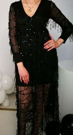 Платье с паетками висюльками вечерние