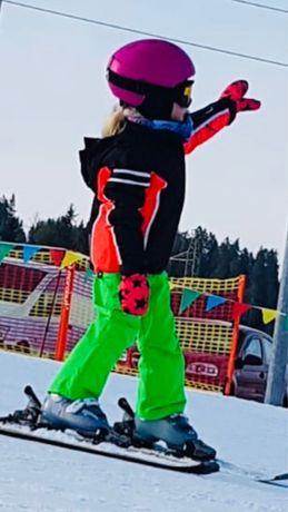 Stroj narciarski rozm. 110 unisex (kurta i spodnie z szelkami)
