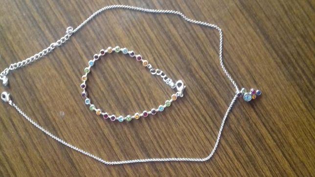 Komplet biżuteri-bransoletka i naszyjnik