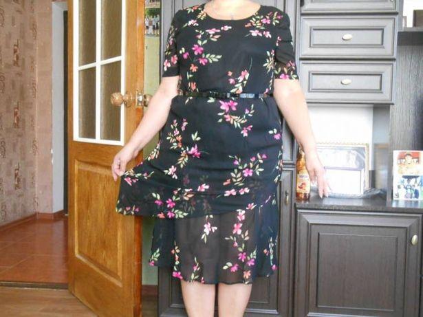 Платье крепдешиновое (Германия)р-р 50-52