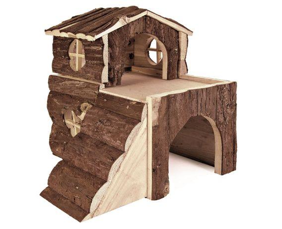 Trixie - domek drewniany Bjork dla świnki morskiej, 31 x 28 x 29 cm