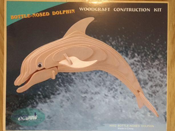 Puzzle 3D ze sklejki delfin