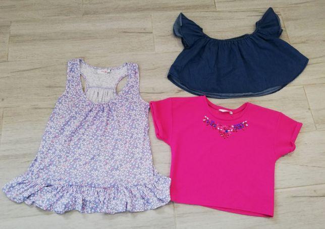 zestaw bluzek letnich dziewczęcych