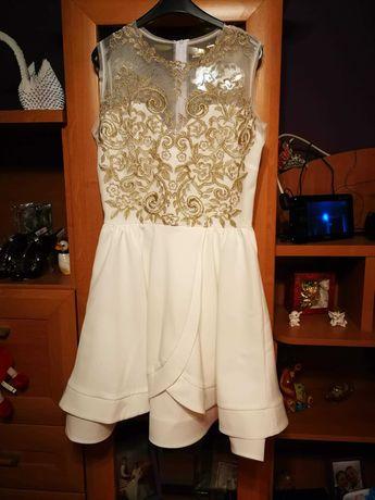 Zjawiskowa Sukienka biało złota jak Lou