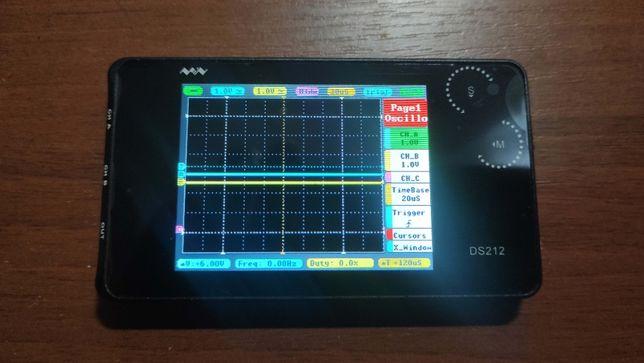 Карманный осциллограф DS212 двухканальный с генератором