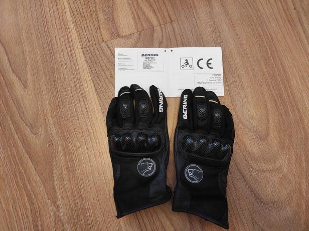 Мотоперчатки bering match черные, M (т9)
