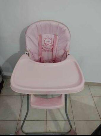 Cadeira de papa rosa
