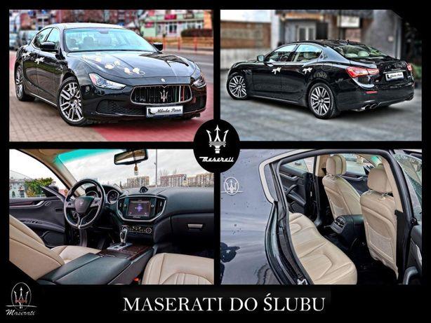 Auto do ślubu Maserati - na wesele Białystok Warszawa Augustów Grajewo