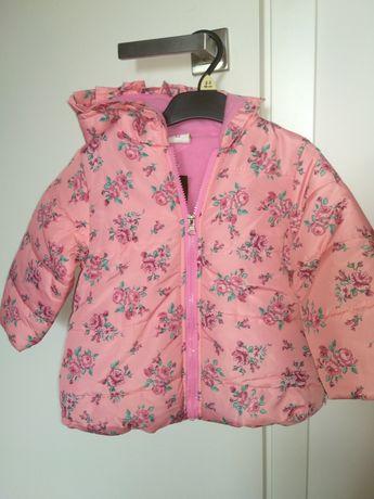 Nowa zimowa kurtka dla dziewczynki r 92 rozowa