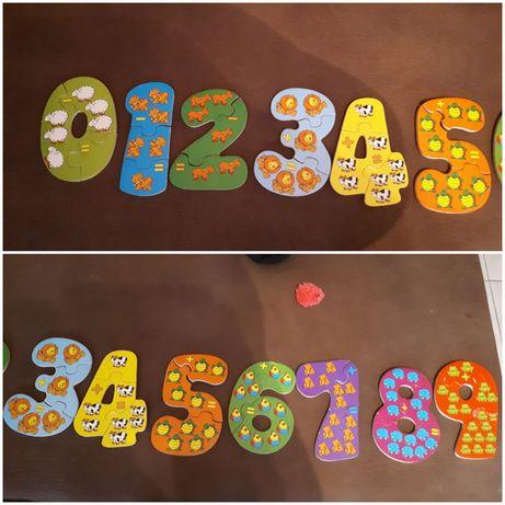 Jogo/ puzzle para aprender a somar