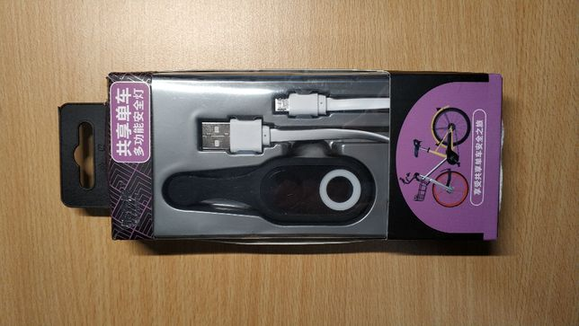 Lâmpada LED USB de segurança para caminha, ciclismo ou atletismo