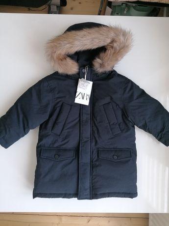 Nowa kurtka Zara ocieplana pierzem