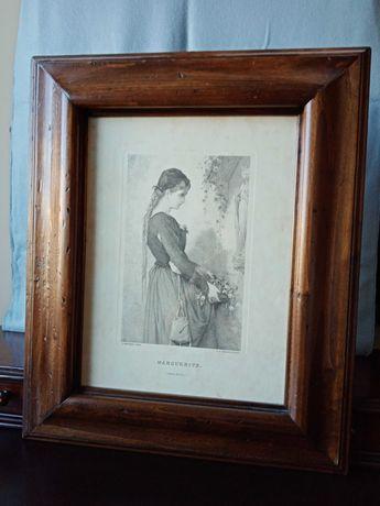 Vendo quadro com ilustração de mulher