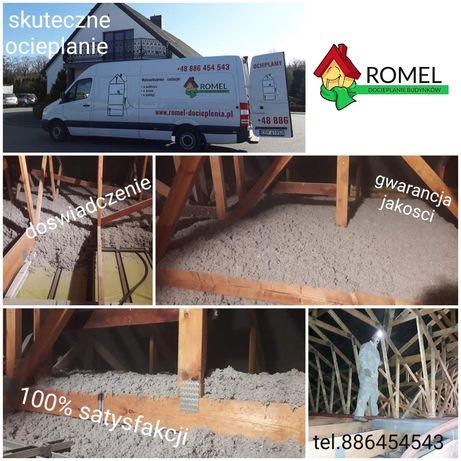 Wdmuchiwanie wełny, celulozy, ocieplanie stropów, poddaszy, naprawa