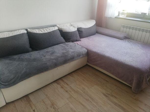 Kanapa rozkładana bardzo duża narożna, sofa łóżko, zestaw wypoczynkowy