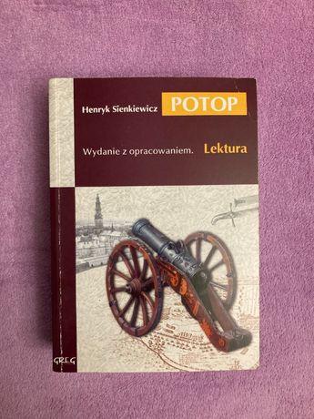 """Henryk Sienkiewicz """"Potop"""", lektura z opracowaniem, wyd. Greg"""