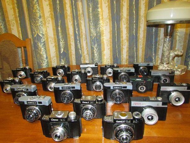 Коллекция фотоаппаратов Смена
