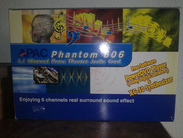 Placa de Som APAC Phantom 806 5.1 Channel