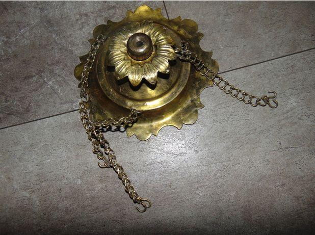 Przedwojenna mosiężna część do lampa naftowa