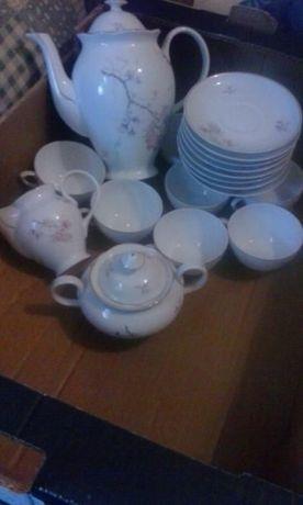 serviço de chá de porcelana portuguesa