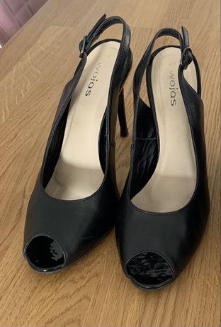 Sandały szpilki WOJAS czarne 39