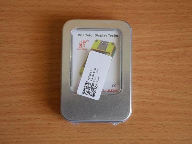 Miernik napięcia i prądu portu USB 3.0 BT UM34C