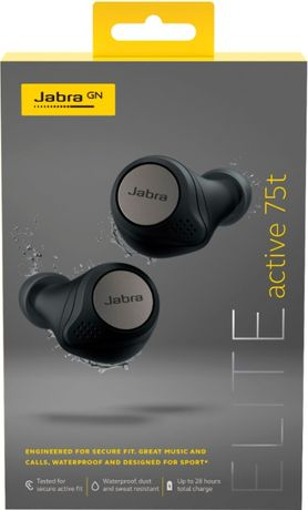 Наушники JABRA Elite Active 75t Titanium Black, Navy Гарантия