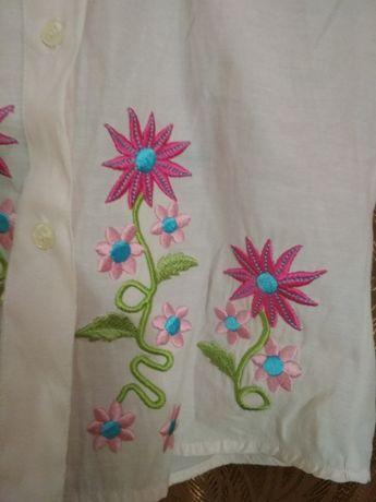 Рубашка с вышивкой 4-6 лет