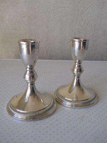 Серебряные старинные подсвечники