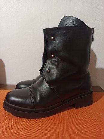 Чоботи черевики зимові шкіра