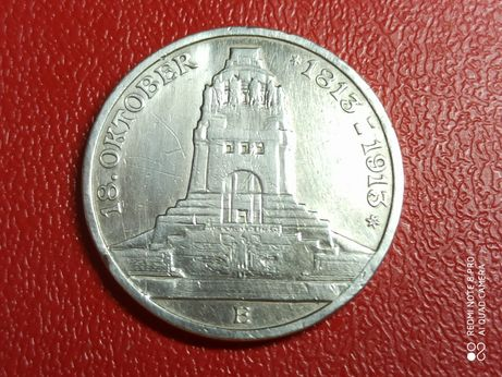 Продам монету 3 марки Саксонии Германская империя из серебра