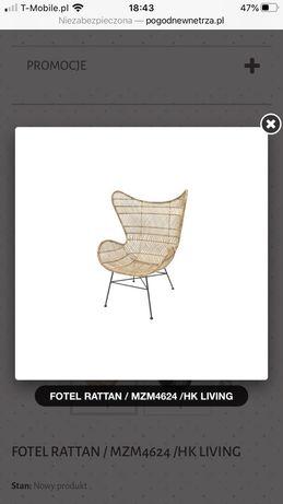 Fotel rattan