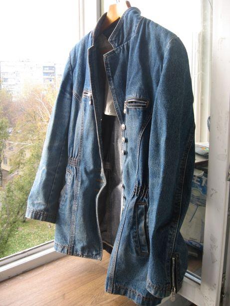 Женский джинсовый пиджак кардиган.Размер ХL.В хорошем состоянии Б\У