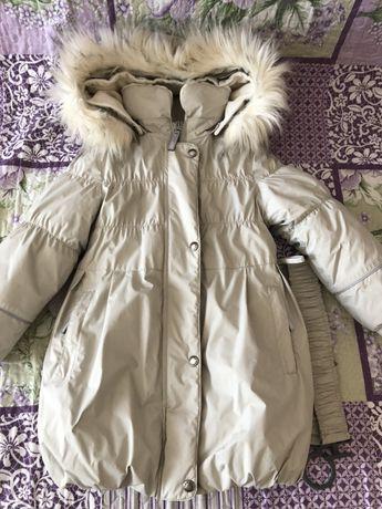 Продам зимнее пальто Ленне и зимний комплект на девочку