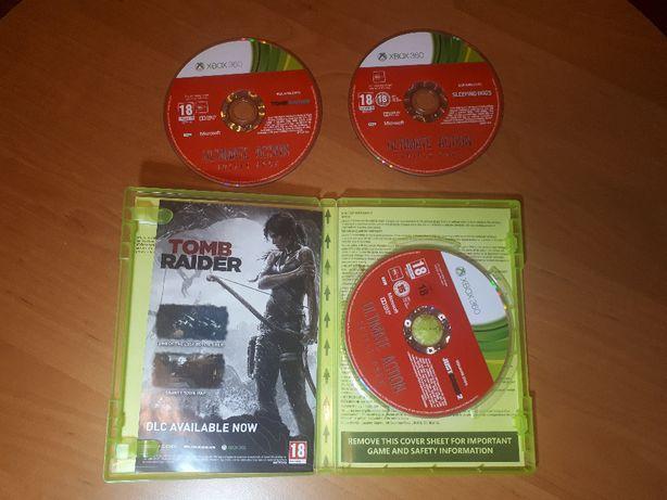 Zestaw trzech gier Just cause2, Tomb Raider, Sleeping dogs na Xbox360