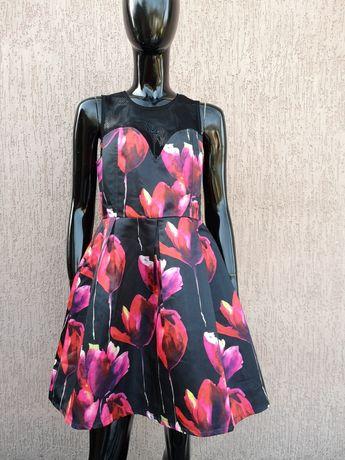 Эффектное вечернее платье 3d цветы boohoo