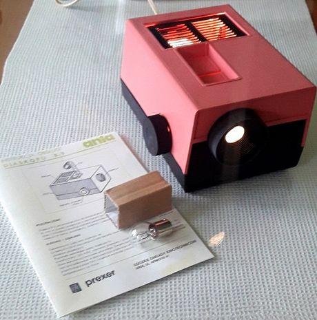 Rzutnik Ania B9 diaskop prexer projektor do bajek PRL różowy