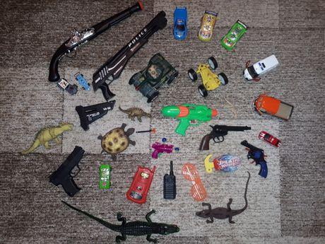Пакет игрушек, лот/машинки, перевёртыш/животные/динозавры/оружие/танк