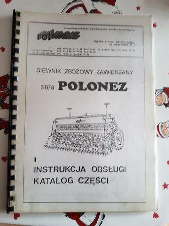 Instrukcja obsługi katalog części siewnik zbożowy