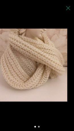 Gola cachecol quentinha lã