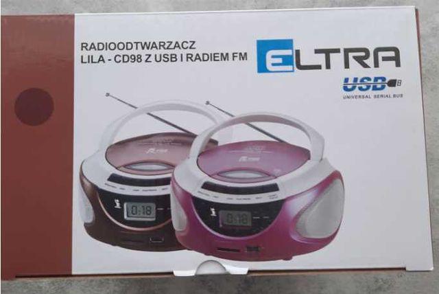 Radioodtwarzacz ELTRA CD-98/LILA USB Czekoladowy