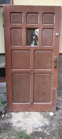 Drzwi drewniane zewnętrzne wejściowe 100cm
