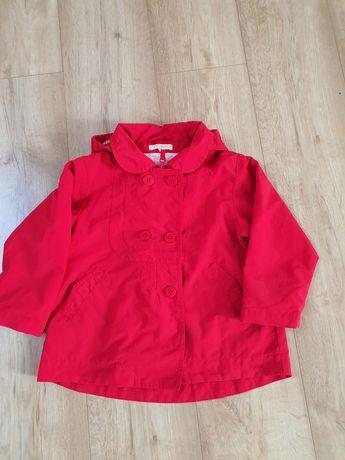 Plaszczyk czerwony dla dziewczynki 98