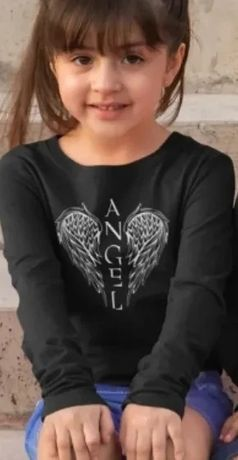 Czarna bluzka z długim rękawem Angel
