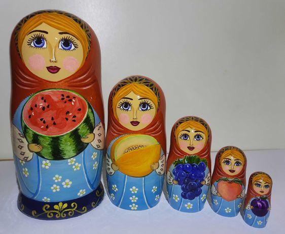 """Матрёшка сувенир """"Фрукты-ягоды""""."""