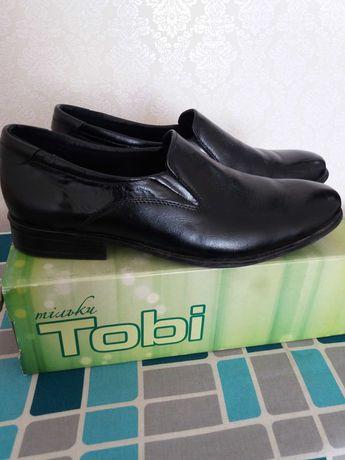 Шкіряні класичні туфлі підліткові