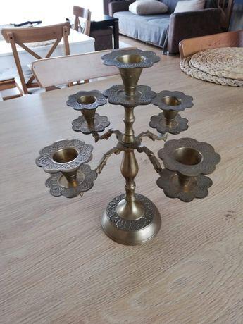 Stary świecznik na 5 świec