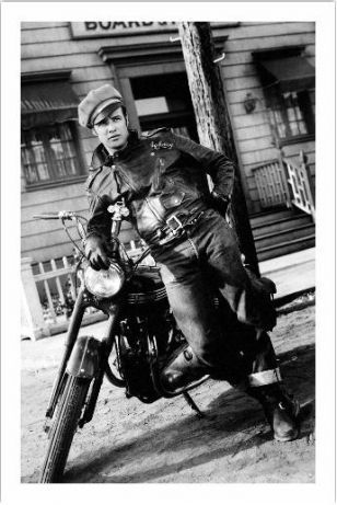 The Wild One (1953): Marlon Brando - Papel fotográfico Premium