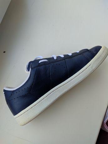 Кеды nike, синие кожаные оригинал